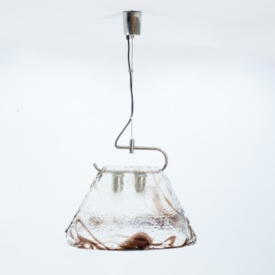 Murano glass pendant lamp by Carlo Nason, 1970s