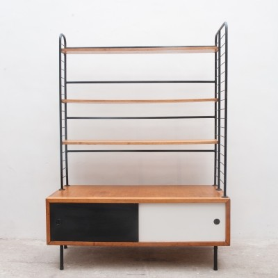 Midcentury Modern 1950s Bookcase with Modular Shelves