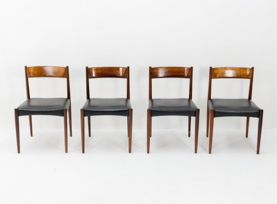 Set of 4 Dining chairs by Lübke, 1960s