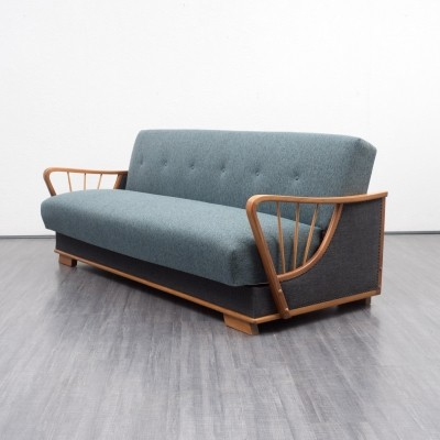 Two-toned 1950s cherrywood sofa