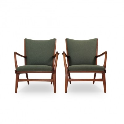 Pair of 'AP 16' Lounge Chairs by Hans J. Wegner for AP Stolen