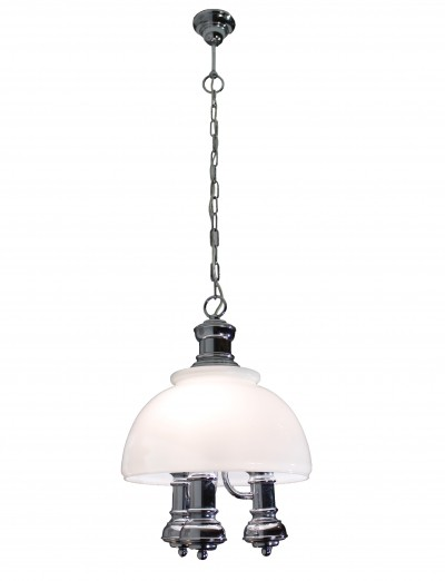 Italian Chromed Pendant in Industrial Style, 1970s