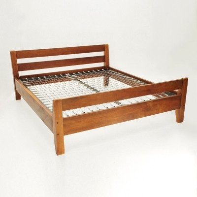 Italian mid century Wooden bed By Bernini, 1960s