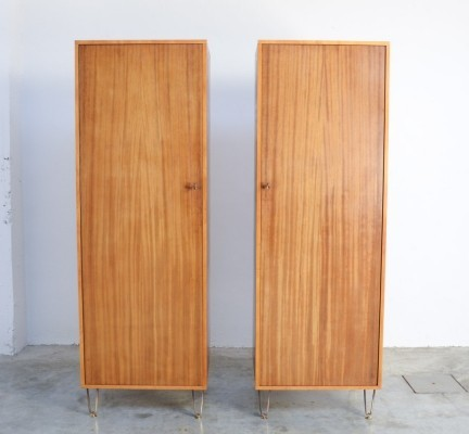 Rare Twin Wardrobes by Alfred Hendrickx for Belform