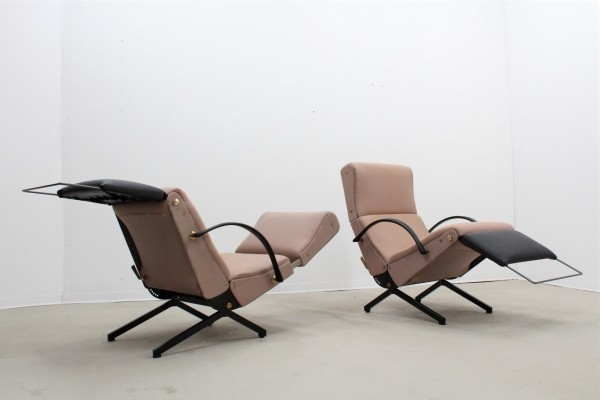 Set of 2 P40 armchairs by O. Borsani for Tecno 1960s