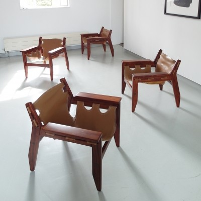 Sergio Rodrigues Kilin Lounge Chairs for OCA, 1973
