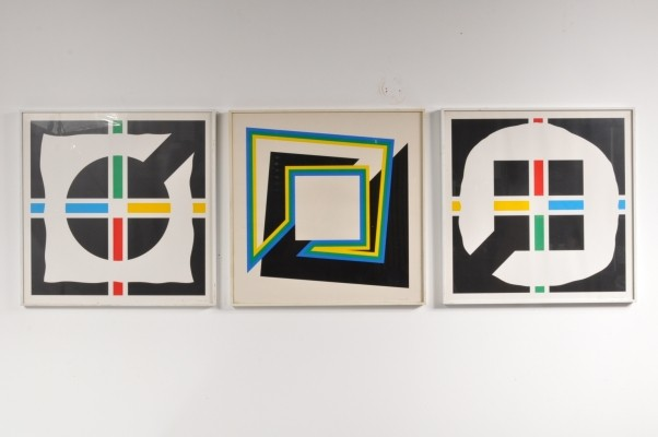 Set of 3 prints by Cyril Lixenberg, 1970s