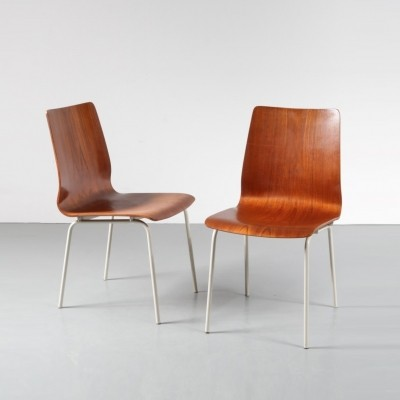 Pair of dinner chairs by Friso Kramer for Auping, 1960s