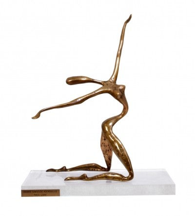 Bronze sculpture by Yves Lohe, c1970
