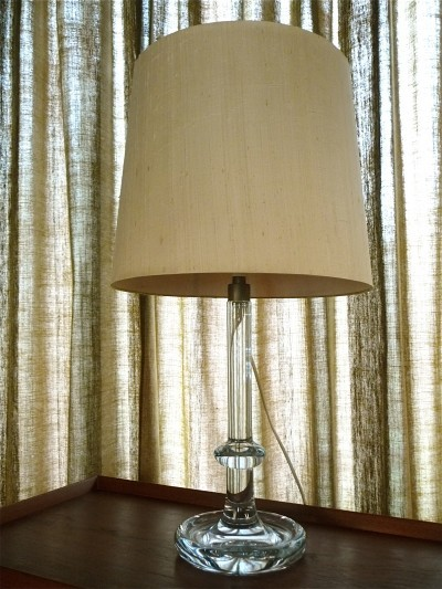'Palace' Crystal Glass Table Lamp by Michael Bang for Holmegaard, Denmark 1960s