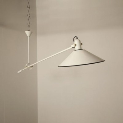 Counter balance hanging lamp by J. Hoogervorst for Anvia Almelo, 1950s