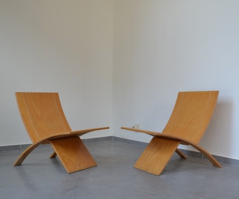 Pair of lounge chairs by Jens Nielsen for Westnova, Norway 1966