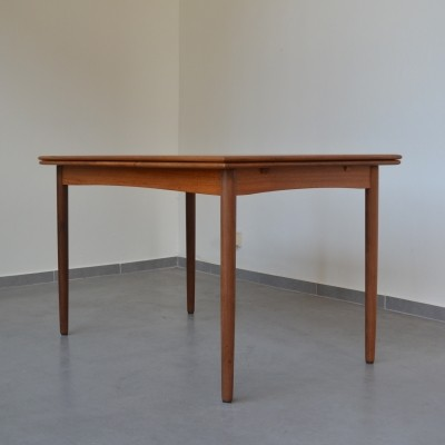 Teak extendable dining table from Denmark 1960's