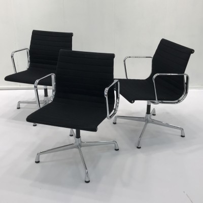 8 x EA108 office chair by Charles & Ray Eames for Vitra, 1980s