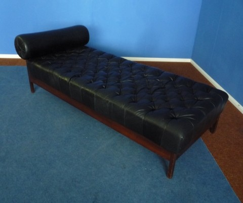 Mid Century Psychiatrist Leather Daybed 1960s