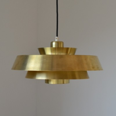 Brass 'Nova' pendant by Jo Hammerborg for Fog & Mørup