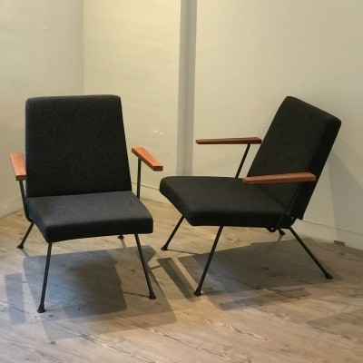 2 x model 1409 lounge chair by André Cordemeyer for Gispen, 1950s