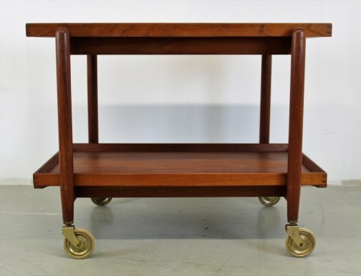 Danish design serving trolley by Poul Hundevad, 1950s