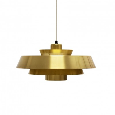 Jo Hammerborg 'Nova' Pendant Light in Brass for Fog & Mørup, Denmark 1960s