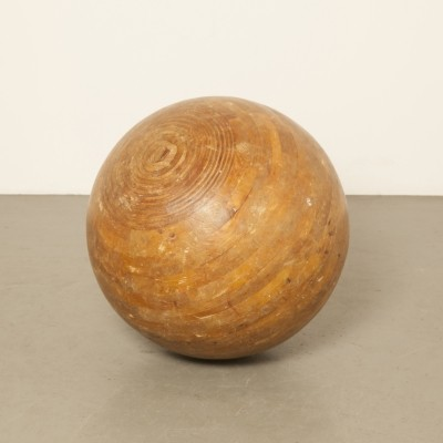 Wooden Circus ball or balancing ball, 1970s
