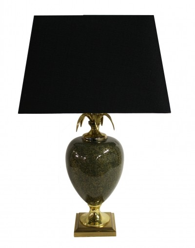 Vintage pineapple table lamp by Maison Le Dauphin, 1970s
