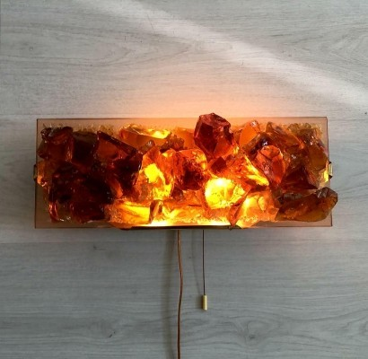 Raak Chartres Glass Wall Lamp by Willem Van Oyen, 1960's
