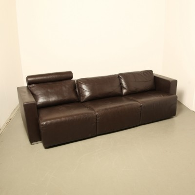 Walter Knoll sectional brown leather sofa
