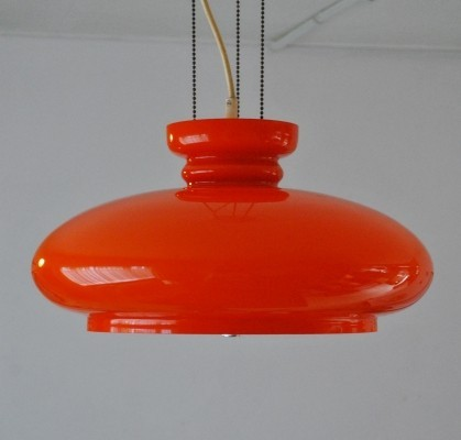 Bowl hanging lamp by Raak Amsterdam, 1970s