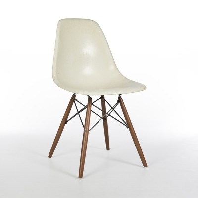 Original Herman Miller White Eames DSW Dining Side Chair