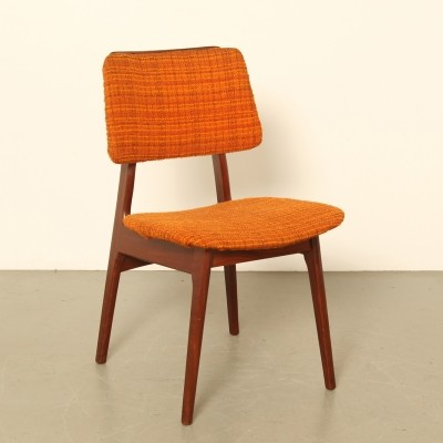 4 x Afro teak dining chair, 1960s