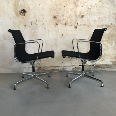 Vitra Aluminium Group EA107 Eames dining chairs