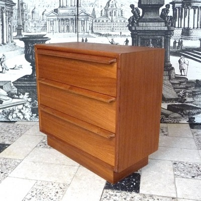 Danish Teak Chest of Drawers Unit, 1960s
