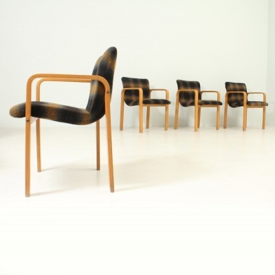 Four Dining Chairs in Plywood Birch