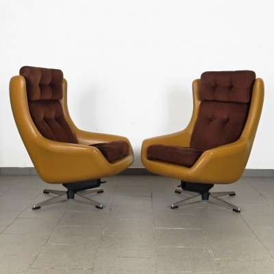 Pair of Peem Finland arm chairs, 1970s