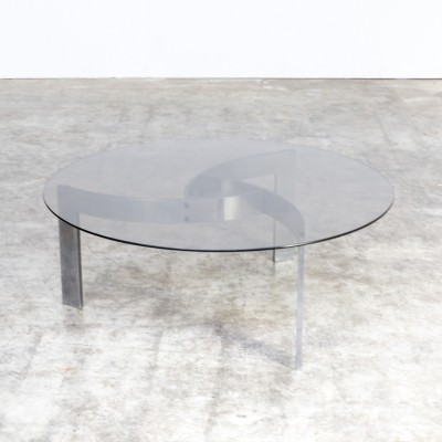 70s design round coffee table by Paul Legeard