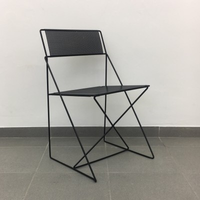 Niels Jorgens for Magis X-line metal dinner chair, 1970's