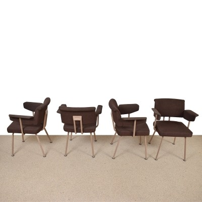 Set of 4 Resort arm chairs by Friso Kramer for Ahrend de Cirkel, 1960s
