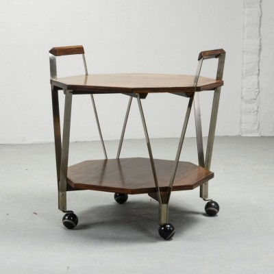 Octagonal Serving Trolley by Ico Parisi for Stildomus Milan, Italy 1959