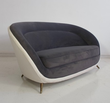 Italian Sofa by Giulia Veronesi, Produced by ISA, circa 1950