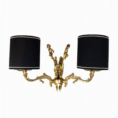 Pair of Italian Brass Appliques Wall Lights, 1950s