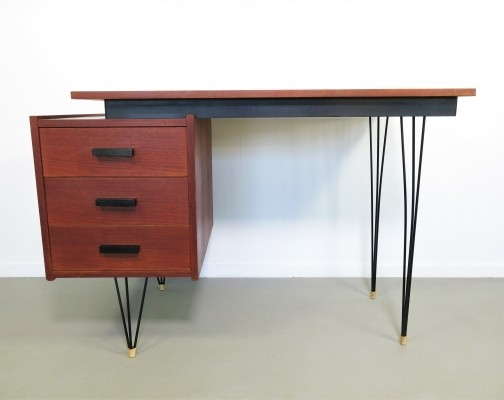 Hairpin desk by Cees Braakman for Pastoe, 1950s