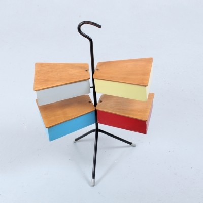 Colorful fifties sewing stand by Joos Teders for Metalux