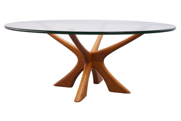Danish Teak & Glass Coffee Table by Illum Wikkelso