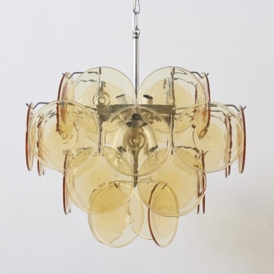36 Glass Disc Vistosi Chandelier