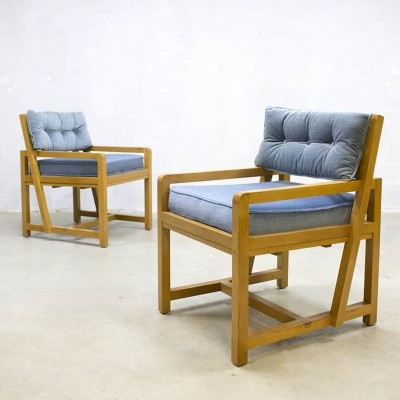 Pair of vintage lounge chairs, 1930s