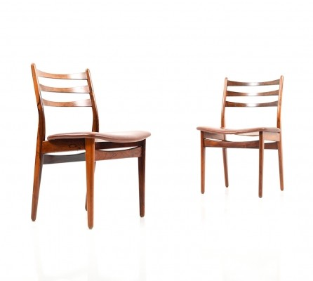 Pair of Danish Rosewood Dining Chairs, 1960s