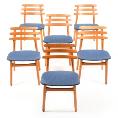 Early Set of Poul M. Volther Dining Chairs, Model J48