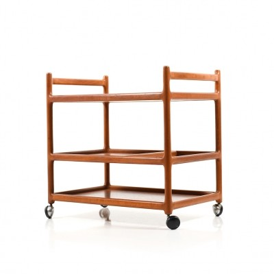 Danish Serving Trolley in Teak by Henning Korch