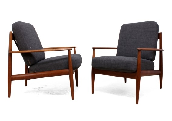 Pair of Teak Armchairs by Grete Jalk for France & Son
