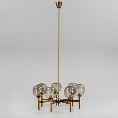Brass Chandelier with Seven Lights by Westal